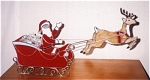 Click here to enlarge image and see more about item santa-candy: Santa Sleigh and Reindeer Candy Dish