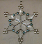 Click here to enlarge image and see more about item snowflake: Beveled Glass Snowflake