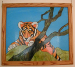 Click here to enlarge image and see more about item tiger: Tiger Mosaic