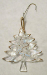 Click here to enlarge image and see more about item tree1: Glass Christmas Tree Ornament