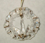 Click here to enlarge image and see more about item wreath2: Holiday Wreath Glass Christmas Ornament