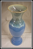 Blue Glazed Art Pottery Vase