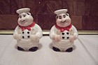 Porcelain CHEF Salt & Pepper Shaker Set