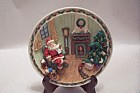 Decorative 3-D Christmas Collector Plate