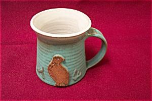 Artist Handmade Mug With Quail Design (Image1)
