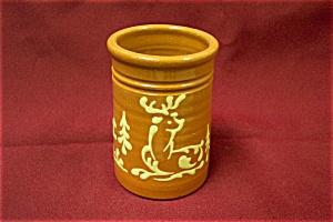 Artist Handmade Deer Motif Cache Bowl (Image1)