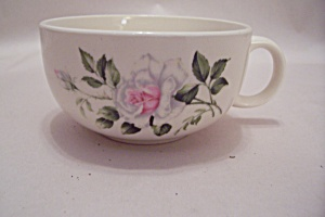 Vintage Pink & White Rose Pattern Teacup (Image1)