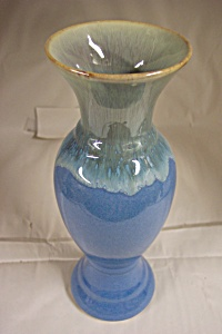 Blue Glazed Art Pottery Vase (Image1)