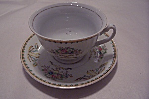 Taiko Floral Pattern Porcelain Cup & Saucer