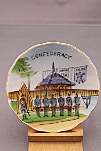 Hand Painted Occupied Japan Confederacy Collector Plate
