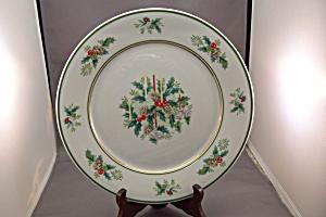 Manufacturer: Noritake, Japan. Stunning Noritake fine china Holly Christmas plate.
