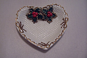 Vintage Heart Shaped Holiday Dish