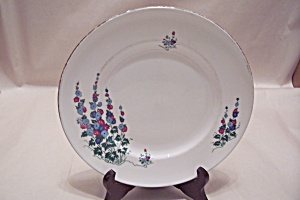 Crown Sterling Windsor Delphinium Collector Plate