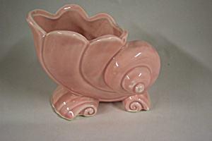 Mccoy Pink Shell Planter/vase