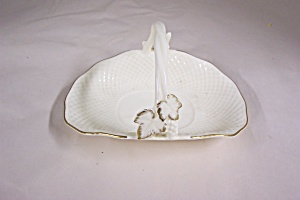 Mikasa Ivory Bone China Basket Candy Dish