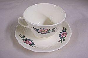 Homer Laughlin Trellis Cup & Saucer