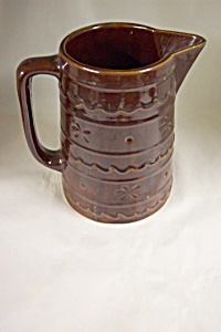 Large Marquest Stoneware Pitcher
