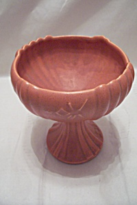 Vintage Orange Pedestal Bowl (Image1)