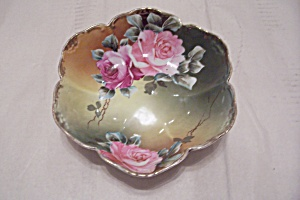 Vintage Handpainted Footed Bowl (Image1)