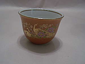 Occupied Japan Peacock & Floral Motif Sake Cup (Image1)