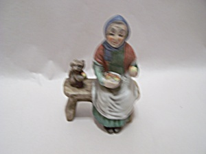 Vintage Grandmother & Squirrel Figurine