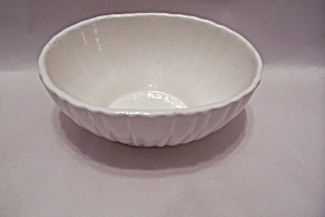Haeger White Oval Bowl #4020 (Image1)