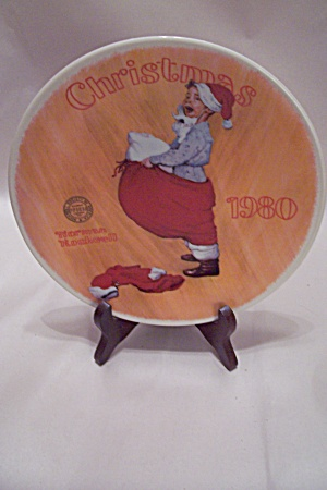 Norman Rockwell Christmas 1980 Collector Plate