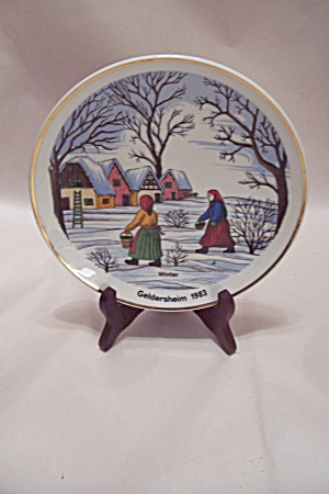 German Winter Geidersheim 1983 Collector Plate