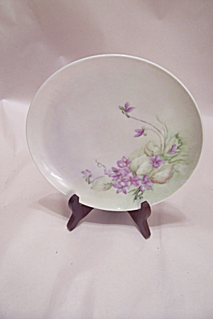Handpainted Floral Motif Collector Plate