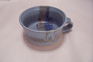 Artist Handmade Pottery Soup Cup