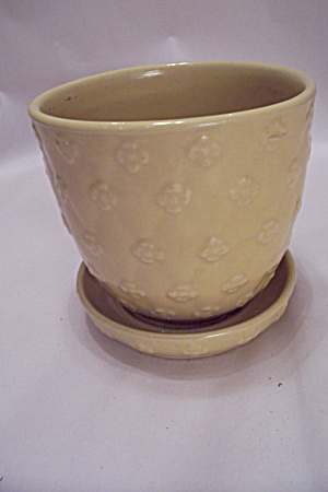 Mccoy Yellow Daisy Pottery Planter