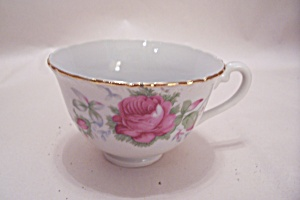 Vintage FSCO Rose Pattern Teacup (Image1)
