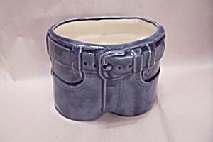 Porcelain Blue Jeans Cache Pot (Image1)
