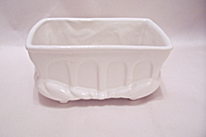 Mccoy White Footed Cache Pot/bowl