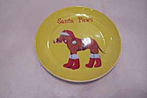 Santa Paws Collector Plate
