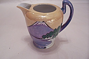 Occupied Japan Chikusa Lustre Ware Mt. Fuji Pitcher (Image1)
