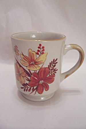 Fall Colored Flowers Mug (Image1)
