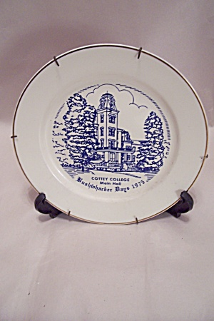 Bushwacker Days 1975 Nevada, Mo. Collector Plate