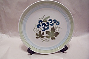 Blue Grapes Ironstone Collector Plate