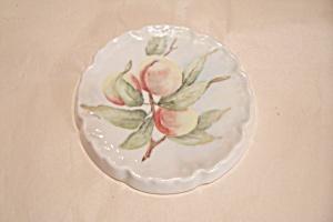 Handpainted Decorative Peach Motif Plaque/plate