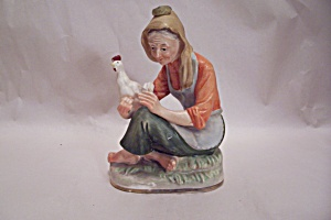 Farm Woman With Chicken (Image1)