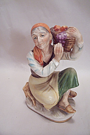 Farm Woman With Fruit Basket