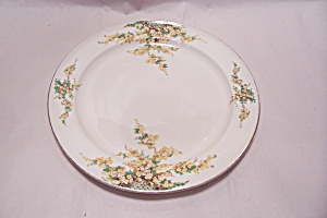 Edwin Knowles Hostess Pattern Yellow Flowers Plate (Image1)