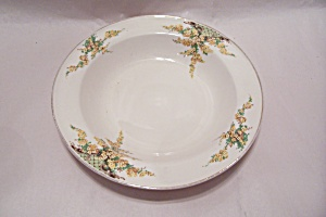 Edwin Knowles Hostess Yellow Flowers Pattern Soup Bowl (Image1)