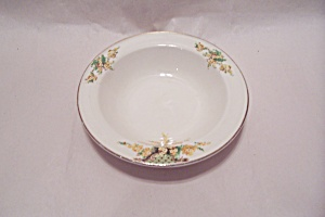 Edwin Knowles Hostess Yellow Flowers Dessert Bowl (Image1)
