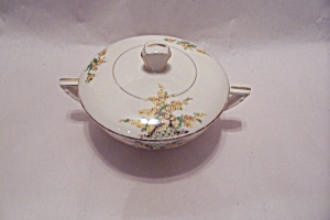 Edwin Knowles Hostess Yellow Flowers Lidded Sugar