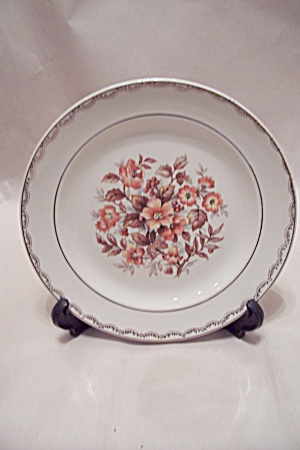 French Saxon China Collector Plate With Floral Motif