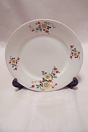 Vintage Homer Laughlin Floral Motif Collector Plate