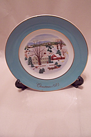 Avon Christmas On The Farm 1973 Collector Plate