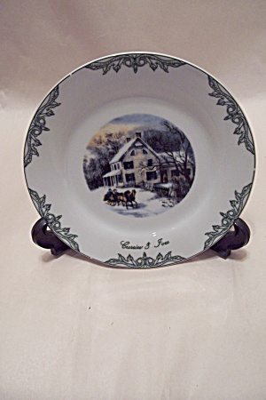 Courier & Ives Winter Scene Collector Plate